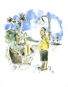 Sudah mandi? Have you washed yet? The local way to say
